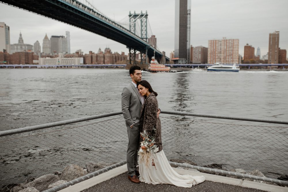 Artistic elopement in Brooklyn historic DUMBO