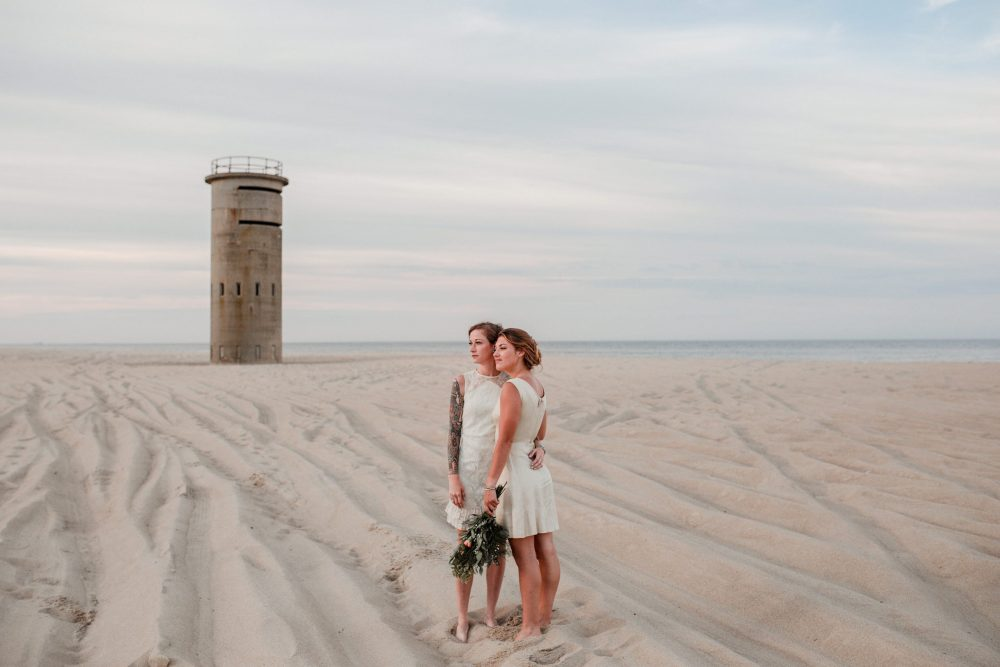 LGBT Wedding and Styled Elopement on the Beach in Delaware