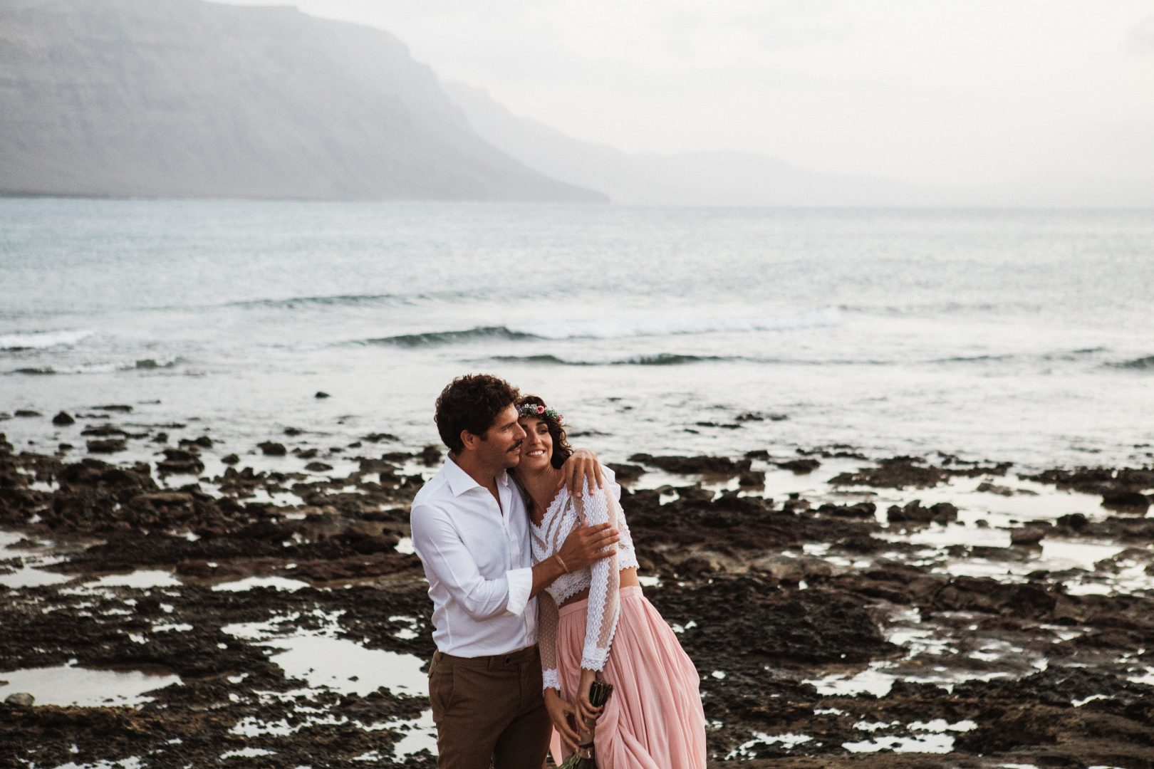 Destination Wedding at Sunset in the Canary Islands, Spain