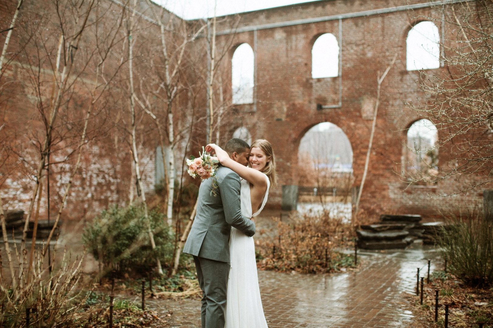 New York City Wedding in the Rain